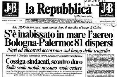 Risultati immagini per Ustica 27 giugno 1980